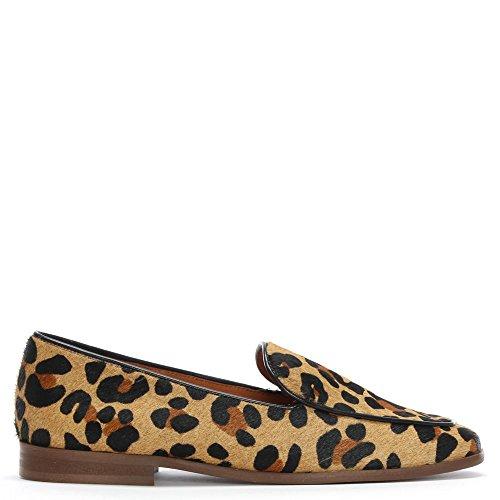 DANIEL Carwell Leopard Kalb Haar Loafer 36 Leo