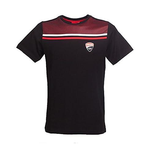 T-Shirt Schwarz Herren Ducati Corse L