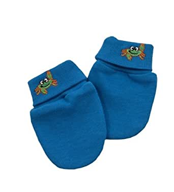 Green Nippers Unisex Baby Organic Scratch Mittens Baby Boy's Blue 0-6 Months