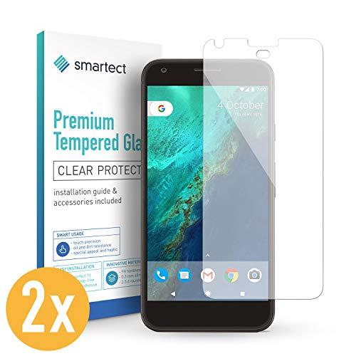 smartect Protector de Pantalla para Google Pixel XL [2 Unidades] - 9H Cristal Templado - Diseño Ultrafino - Instalación Sin Burbujas - Anti-Huellas