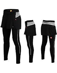iisport 2015 Nouveau Pantalon de Sport avec Jupe Pantalon 3/4 Longue Maillot de Vélo VTT Vêtement Pantalon Cyclisme femme Pantalon Collant Pour Outdoor