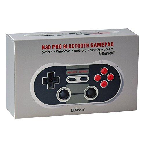 8BitDo NES30 PRO Manette de jeu bluetooth style Nintendo NES/SNES compatible Android, PC, Windows, MAC