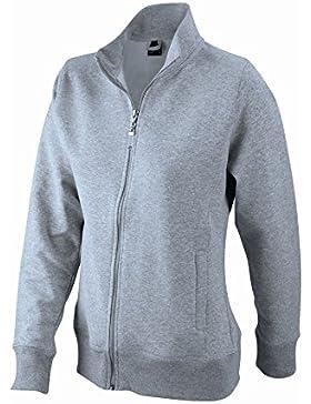 Chaqueta Mujer Hecha de Felpa con cremallera Sweat-Shirt Hoodie tamaño S a 3XL