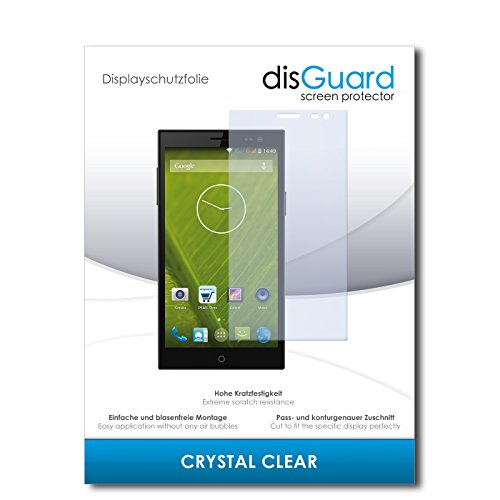 disGuard® Bildschirmschutzfolie [Crystal Clear] kompatibel mit Simvalley Mobile SPX-34 [4 Stück] Kristallklar, Transparent, Unsichtbar, Extrem Kratzfest, Anti-Fingerabdruck - Panzerglas Folie, Schutzfolie