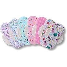 Protege Slips de tela reutilizables, pack de 7 salvaslips lavables de algodón con alas HECHAS