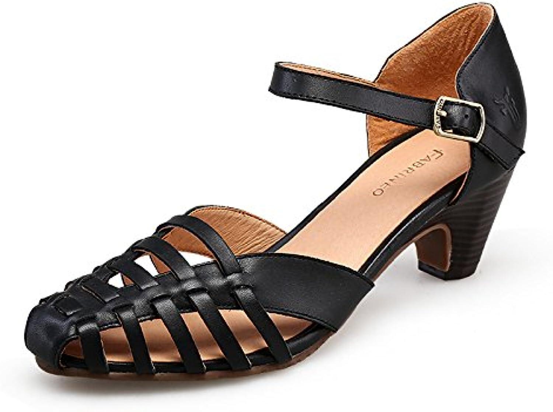 SHOESHAOGE Die Tina Frauen Schuhe Ausgesetzt Baotou Römische Sandalen Weißlichen Dick Mit Wasserdichten Taiwanö