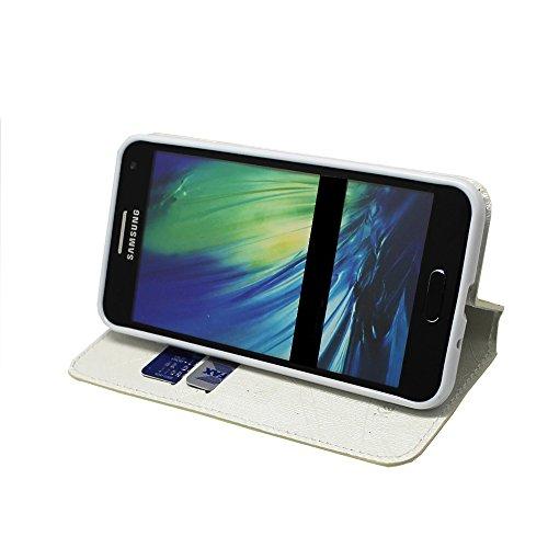 iPhone 7 Plus Hülle , Kamal Star® PU Leder Flip Case Schutzhülle + Stylus Flower White Diamond Book
