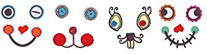 Set de 4 pplications à repasser VBS « Eye see you » visages