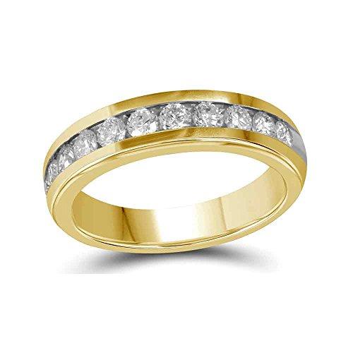 Diamond2Deal Herren Damen Unisex Kinder - 10 K Gelbgold (10 Karat) Rund Leicht Getöntes Weiß/Top Crystal (I) Diamant