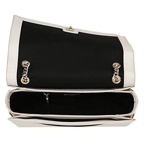 Roberto Cavalli Class Frau Handtasche 24x14x8 Cm Mod. C61PWCLC0022F85 Optisches Weiß - Gold