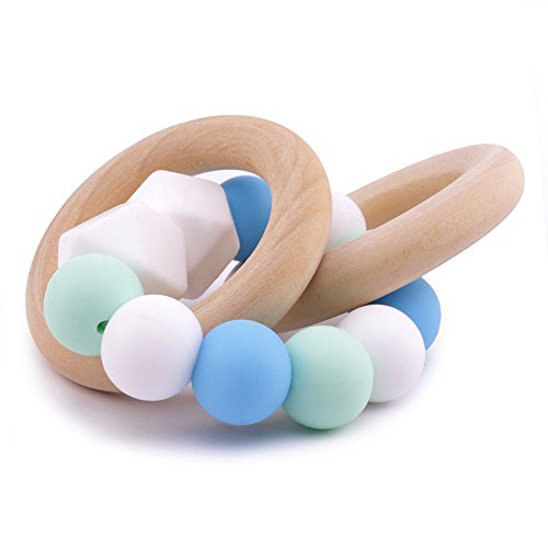 Best for baby Cuentas redondas Pelota Dentición de silicona para bebés Pulsera Accesorios de enfermería Juguete Montessori