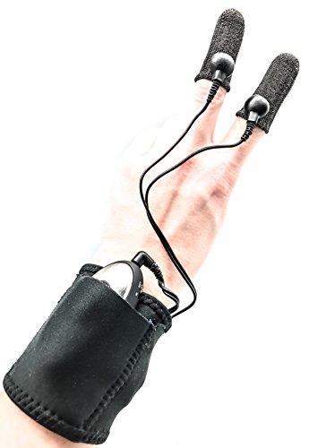 ELEKTRO FINGER by DR. ELECTRO, prickelnde Elektrostimulation, mit Augenmaske und Handgelenktasche, im Starter Set inkl. Kabeln