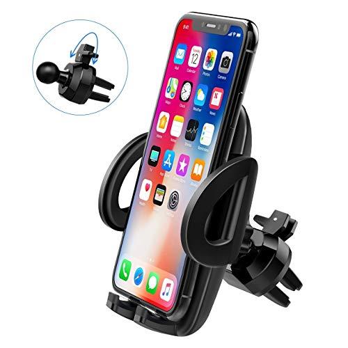 Supporto Smartphone Per Auto Rhino  1 anno di garanzia  Rotazione 360 ° per iPhone XS MAX/8+/ 8/7+, Samsung Galaxy S9/S9+/S8/S8+/ Nota 8/ S7/ Huawei Mate 10 e 10 Pro / A7/A5/A3, GPS