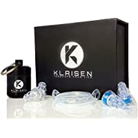 Audio Shields by Klaisen   Professional Hearing Protection for Live Music   2 SIZES INCLUDED   Discreet High Fidelity Reusable Musicians Ear Plugs   Maintain audio quality   Includes Aluminium Carry Case   Concerts   Festivals   Gigs   Rehearsals   Drummers   Motorcycle   DJs   Nightclubs   Work   IMAX (Wide Tube including Cord)