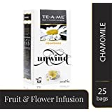 TE-A-ME Chamomile Fruit and Flower Infusion, 25 Tea Bags