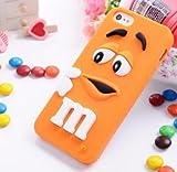 Coque iPhone 5/5S Se m&M's Silicone Orange Coquefone