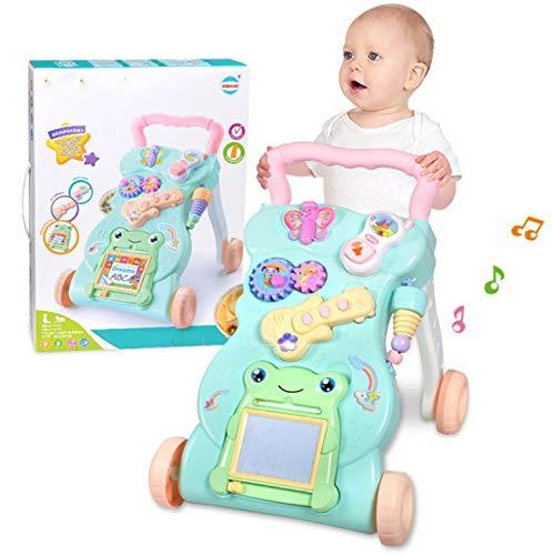 BABIFIS Baby Walker Cart 0-2 Ans Enfant Bébé Multifonction avec Musique Jouet Walker Réglable