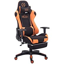 CLP Silla Gaming Turbo Tapizado de Tela I Silla Gamer Giratoria I Silla Racing Regulable en