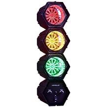Luz de discoteca con forma de semáforo