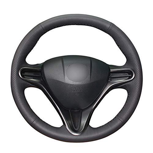 PCVBA Coprivolante in pelle sintetica PU cucito a mano per accessori Honda Civic Civic 8 2006-2011 (3 razze)