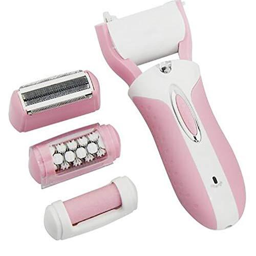 Epilator 3In1 Lady Shaver Frauen Weibliche Rasiermaschine Körper Gesicht Haarentfernung Depilatory Bikini Trimmer Elektro-Callus Remover,Pink