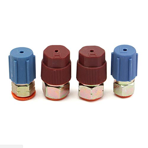 jiuloner-A/C R12 to R134A Low or High Side Threaded Joint Modified Conversion Adapter Quick Connector Male Connector -