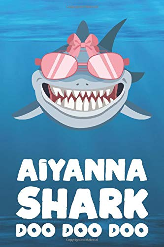 Doo Doo: Blank Ruled Personalized & Customized Name Shark Notebook Journal for Girls & Women. Funny Sharks Desk Accessories Item ... Birthday & Christmas Gift for Women. ()