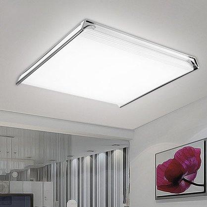 KHSKX Ceiling lamp,24W tritone led ceiling lamp light living room lamp modern minimalist lighting rectangular atmospheric lighting 540*500*60mm three color