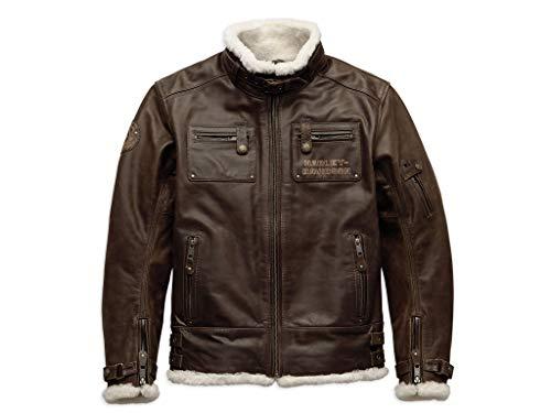 Harley-Davidson Haxen Slim Fit Leder Jacke, 97025-19EM, L -