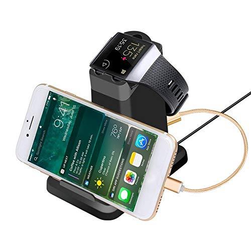Ladestation für Fitbit Ionic, 2-in-1-Ersatzladestation für Ladestation für Mobiltelefon