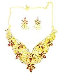 Kpax Fashions Golden Color Alloy Necklace Set For Women,KPX06