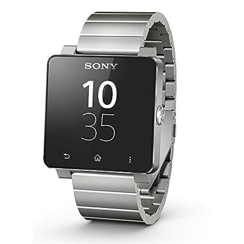 Sony Mobile - SmartWatch 2 - Montre Bluetooth/NFC pour Smartphone Android 4.0 - Bracelet en Métal - Argent
