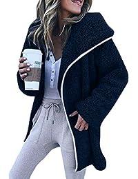 Minetom Chaqueta Cálido Casual Mujeres De Invierno Outerwear Parkas Abrigo Larga Manga Larga Moda Jacket Felpa