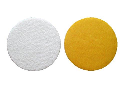 Filzgleiter / Möbelgleiter, 2 Stück, rund, 18 cm Durchmesser, selbstklebend, Weiß, 4 mm stark