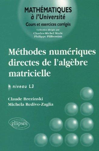 Méthodes numériques directes de l'Algèbre matricielle : Niveau L3