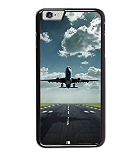 Fuson Premium 2D Back Case Cover Aeroplane With Green Background Degined For Apple iPhone 6 Plus