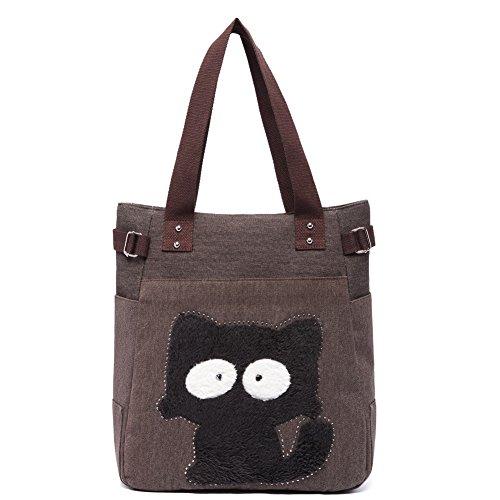 Vintage Reisetasche Handtaschen Schultertasche KAUKKO Shopper Taschen Umhängetasche Damen Handbag