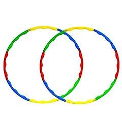 Idea Regalo - Tongs Hola Hoop for Kids Set per Adulti, Cerchi in plastica a Peso e Dimensioni da 32 Pollici. Confezione da 2 Pezzi per Giochi Sportivi per Famiglie