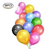 Eightnight 98pcs 16 couleurs 12 pouces Premium Round Ballons de latex forts et épais pour la fête de mariage...