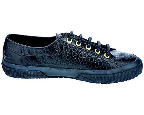Superga 2750-Fglwembossedcocco, Sneaker, Donna Full Black