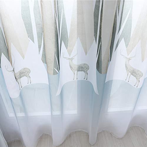 """Gardinen-Fenstervorhangnetz, wärmeisolierender Verdunkelungsvorhang für Wohnzimmer, Tropfen 98\""""(250 cm H)"""