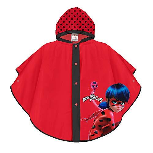 PERLETTI Poncho Impermeable Miraculous Ladybug - Chubasquero