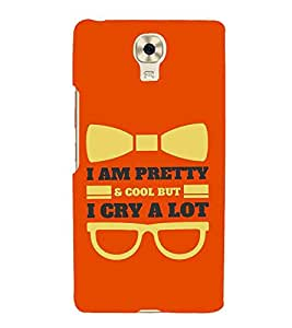 HiFi Designer Phone Back Case Cover Gionee M6 ( Pretty And Cool Cry A lot Quotes )