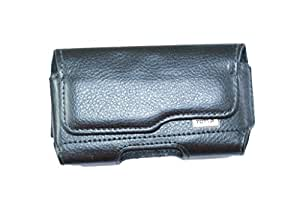Premium Branded Fabric Leather Card Holder Pouch for Acer CloudMobile S500 - Black-SBPBK52#1651