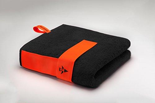 skilly Fitnesshandtuch+ flex Band zur Befestigung an Trainingsgeräten (schwarz)