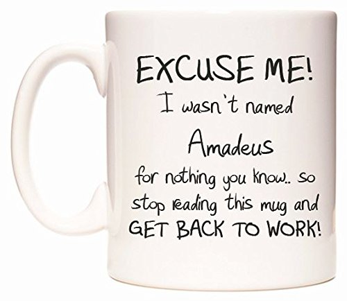 EXCUSE ME! I wasn't named Amadeus for nothing you know. Tasse de WeDoMugs