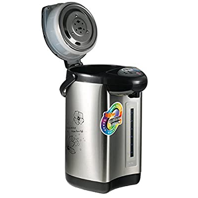 Vogvigo Distributeur d'Eau Chaude Électrique, Épurez la Machine de Bouilloire de l'Acier Inoxydable 304 Thermo Pot 4 L Capacité - 220V 750W
