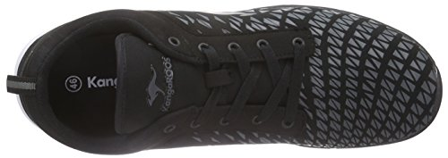 KangaROOS K-blue Run 8005 C Unisex-Erwachsene Low-Top Schwarz (black 500)
