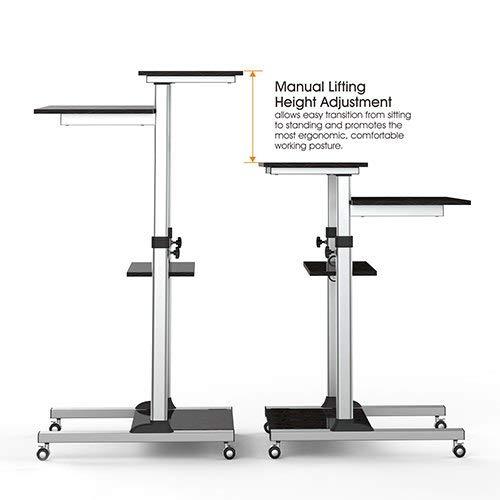 Computerschreibtisch Steh Bürotisch Mobiler ergonomischer Stand-up Schreibtisch Stehtisch...