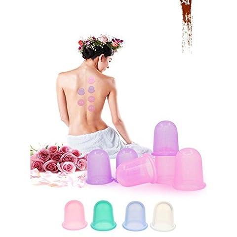 Ventouse Minceur Anti-cellulite Silicone Tasse Vide Massage Thérapie Amincissant - L, Bleu